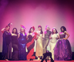 Sugar du Joure onstage with competitors in 2016